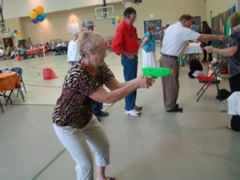 Seniors participating in a recreational program.