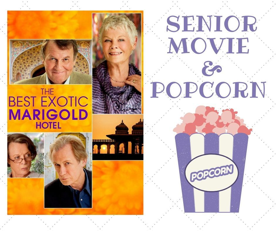 senior movie and popcorn